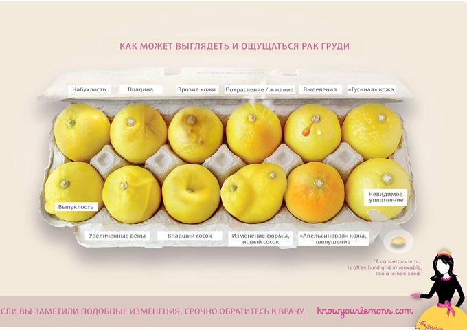 Фото лимонов, которое может стоить жизни: 12 признаков рака груди