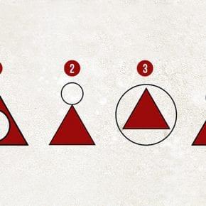 То, как вы рисуете круг относительно треугольника, многое расскажет о вашей личности