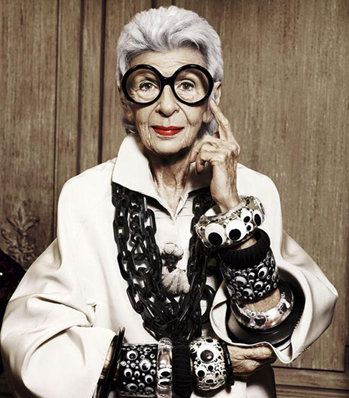 Айрис Апфель: 10 жизненных уроков от 99-летней женщины, которая, вероятно, круче вас